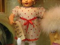 JUST ARRIVED IN BOOTH SPACE # VO4 SHIRLEY TEMPLE DOLL