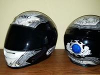 MATCHING SHOEI HELMETS REG. $650 EACH, ONLY WORN A FEW