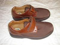 Dr. Comfort Shoes, size 8 ½ XW have leather uppers and