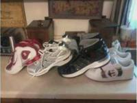 I have many pairs of shoes from Adidas, DC'S, Nike's