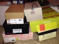 Multiple shoes, most in boxes, great condition. Size 7.