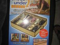 "As Seen on TV ""Shoes Under"" Under Bed Storage Aide New"