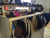 Big assortment of shoes and garments available. New
