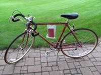 For Sale - Shogun 12-speed bicycle. Color is red. Frame