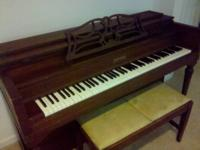 Gorgeous solid mahogany piano - they don't make them