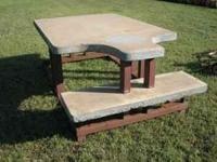 Must see to appreciate, - Poured concrete table top and