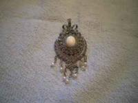 PENDENTS: STERLING SILVER, WHITE ONYX, MARCASITE, FW