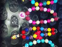 handmade big beads necklaces $15 each if interested