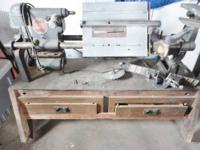 In excellent condition..Converts to, Wood lathe, drill