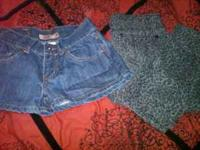 miley cyrus skinny jeans size 3 and lei shorts size 5