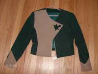 I have a size small/med show jacket. It is a suede