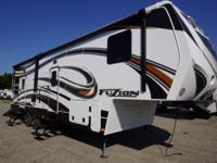 The Keystone 2014 Fuzion 310 5th Wheel Toy Hauler