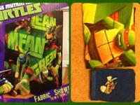 TMNT shower curtain and hand towel. Tag still on towel