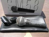 We have only 2 Shure 58 microphones for $60 each, 1