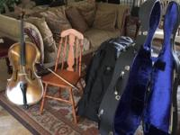 Anton Shuster cello German made with travel case $100