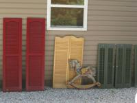 The Maroon Set of Vinyl Shutters are 541/2 X 14 for