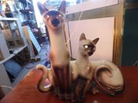 SIAMESE CAT LAMP  EYES LIGHT UP!  CRAIG'S LIST DOES NOT