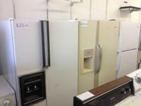 WHITE KENMORE SIDE BY SIDE REFRIGERATOR $225.00 GREAT