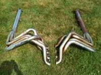 Set of side pipes for big block chevy. Older pipes.