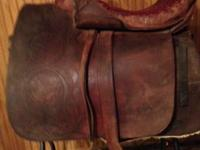 Very old side saddle for sale.  The underneath is in