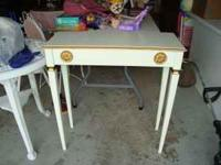 White and Gold Side Decorative Table Price is $10.00