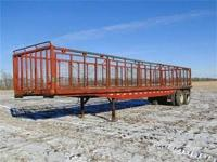 For sale 42' side dump beet trailer nice condition poly