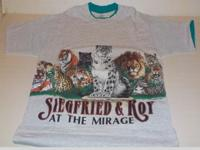 Siegfried & Roy Mirage Habitat XCIII T-Shirt 1993 Rare