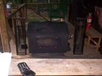Sierra wood stove for sale glass front, Thermostate in