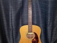 For sale or trade is a Sigma Dm-2 Acoustic Guitar and a