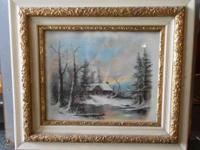 1854-1928 Signed Caulk Pastel Landscape Painting by