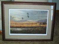 """Mallards at Sundown"" by James Hautman. Print #"