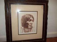 "Signed limited edition artwork ""The Indian Brave"" by"