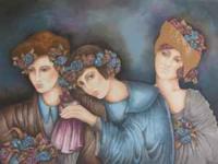 Serigraph print from Israeli artist Haya Ran. Painting
