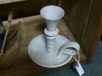 Beautiful white candlestick. Excellent piece of