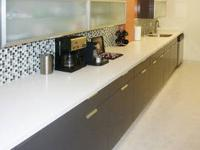 Silestone counter top with stainless steel sink