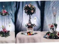 SELLING THE BUSINESS:     Many silk floral arrangements