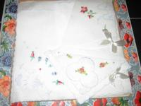 Shown are some of the silk handkerchiefs that also can