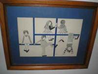 I believe this is a silk screen print. It is signed,