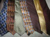 100% SILK Name brand neck ties. For sale cheep.! Look