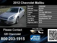 Call GR Chevrolet at . Stock #: C06658Z. Year: 2012.