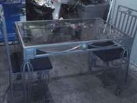 Getting rid of a two person glass topped table w/2