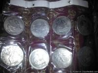 I have 8 silver dollar coins i want to sell there years