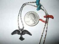 choker style silver eagle necklace with accents of