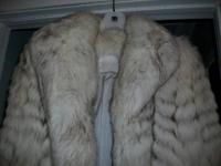 SACRIFICE PRICE on this awesome silver fox fur coat