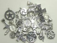 A bunch of silver pendants I have actually left over