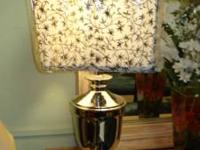 Decorative silver lamps with intricately designed