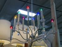 Elegant modern hanging light fixture. Multicolor