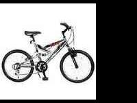 silver 20 in. mako next bike.the gear shifters are