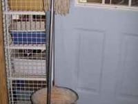 GOOD CONDITION- Silver Mop and Bucket- Asking $8 Mops-