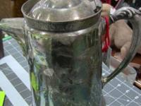 Silver Plated Pitcher. Good condition. Nice patina.